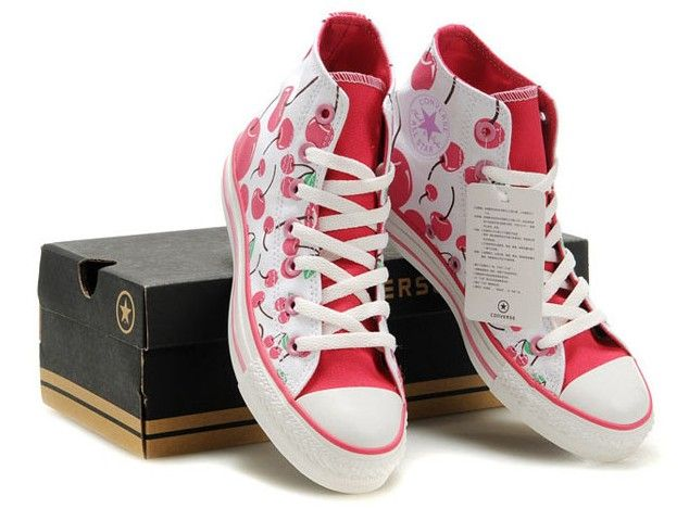 ffebd1c1fc59 Discount Kicksregal net Wholesale Converse Cherry Chuck Taylor All Star Girl  Glacier White Bright Pink Canvas High Top Online