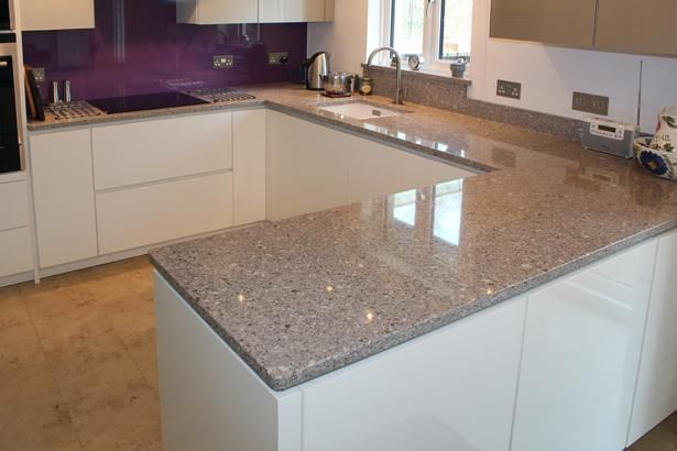 "silestone countertop in ""alpina white"" - this is what i don't want"