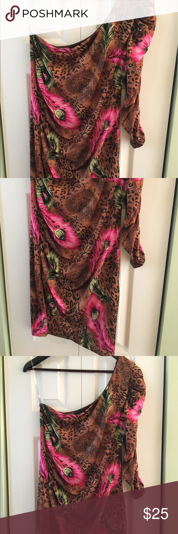 Symphony brand pink and brown dress size large in my posh