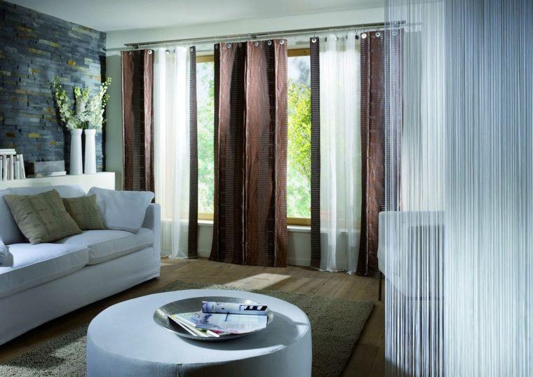 Decoracion cortinas salon - los 50 diseños más modernos - cortinas decoracion