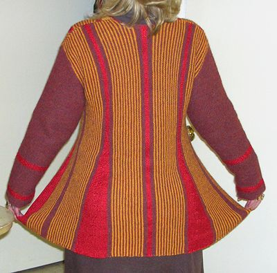 """Ravelry: 106-1 pleated jacket, knitted from side to side in garter st in """"Alpaca"""" and """"Cotton Viscose"""" pattern by DROPS design"""