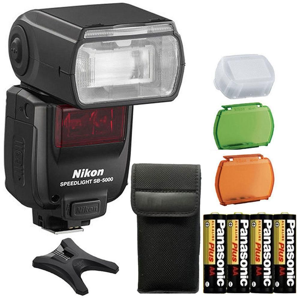 Nikon Sb 5000 Af Speedlight Shoe Mount Flash 4 Aa Panasonic Batteries 3pc Cleaning Kit In 2020 Nikon Camera Nikon Camera