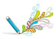 Pencil Drawing Swirls vector art illustration