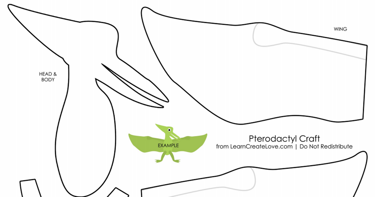 Pterodactyl Pdf Dinosaur Crafts Dinosaur Crafts Preschool Preschool Art