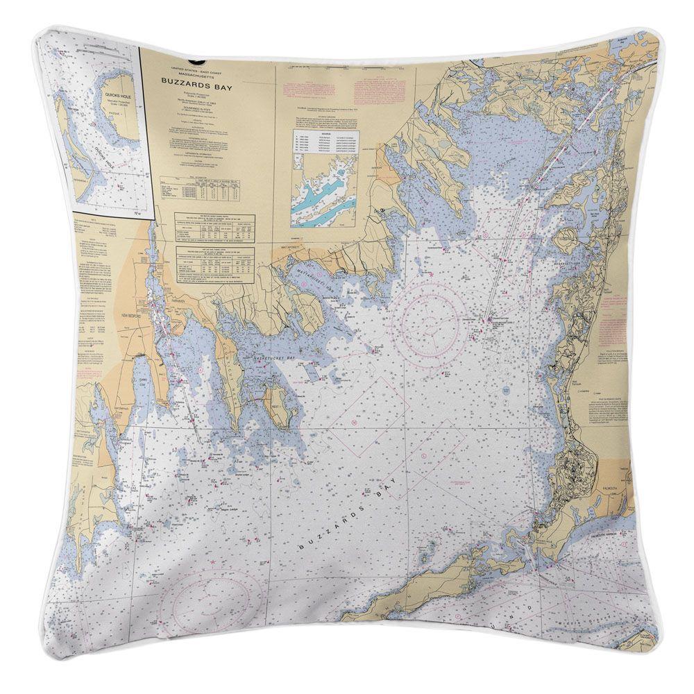 Ma Buzzards Bay Ma Nautical Chart Pillow Pinterest Nautical