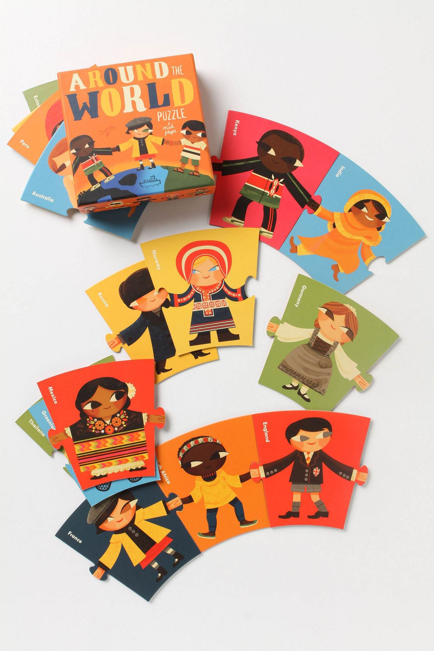 Around The World Puzzle World puzzle, Gifts for kids