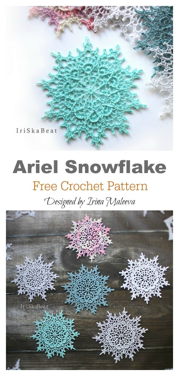 10 Snowflake Christmas Ornaments Free Crochet Pattern