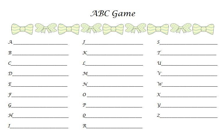 ties shower the games abc baby shower babies and baby shower games