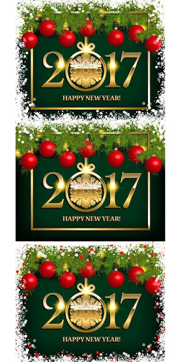 Happy new year 2017 greeting card. Poster Templates. $7.00 ...