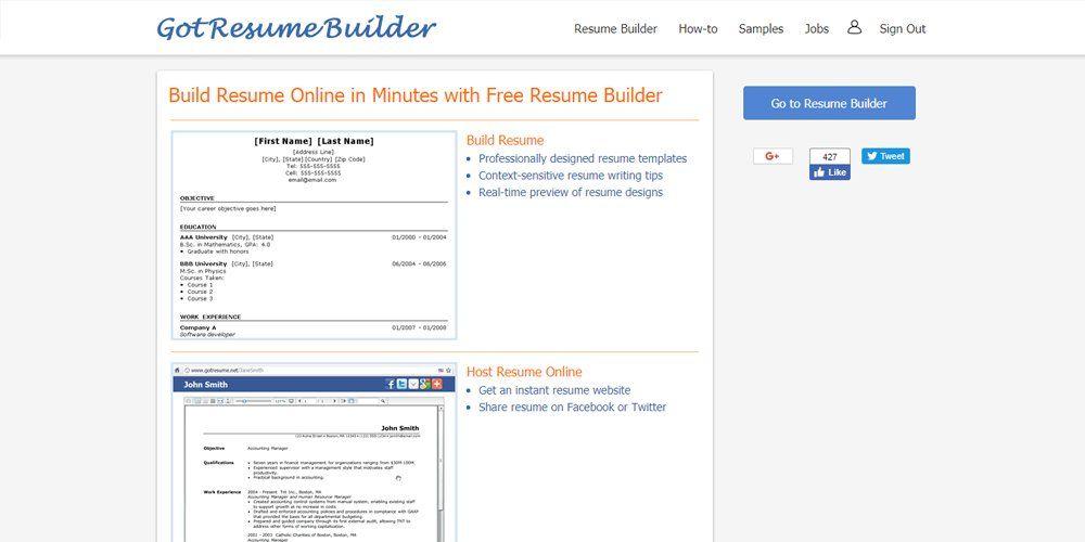 Got Resume Builder Online Resume Builders Pinterest Online - got resume builder