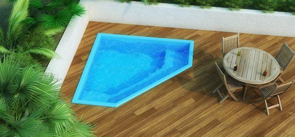 Resultado de imagen de piscina de fibra para quintal - Piscina pequena plastico ...