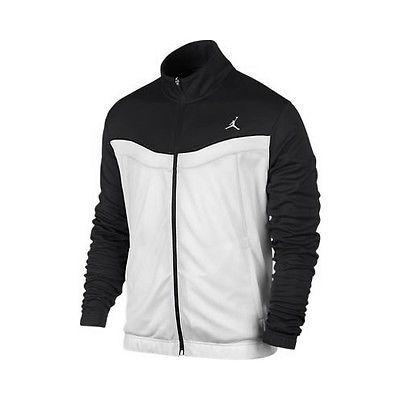 81821289d1ee60 Nike Jordan Prime Fly Zip-Up Black White Jacket 547631-008 Mens Apparel Size  2XL