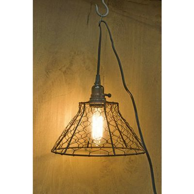 chicken wire swag pendant lamp chicken wire pendant lamps and swag rh pinterest com Swag Chain Lamps Swag Lamps Home Depot