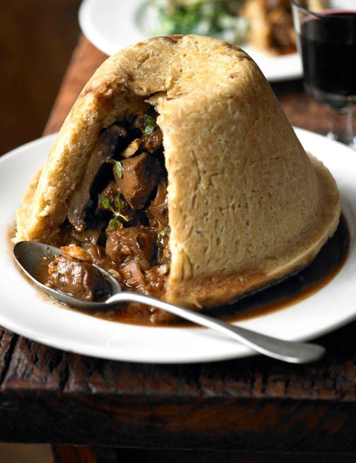 Wild venison, field mushroom and ale pudding | Recipe ...