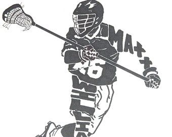 This Is A One Of A Kind Gift For Anyone Interested In Ice Hockey You Can Customize Your Hand Drawn Silhouette By Changi Lacrosse Mens Lacrosse Lacrosse Player