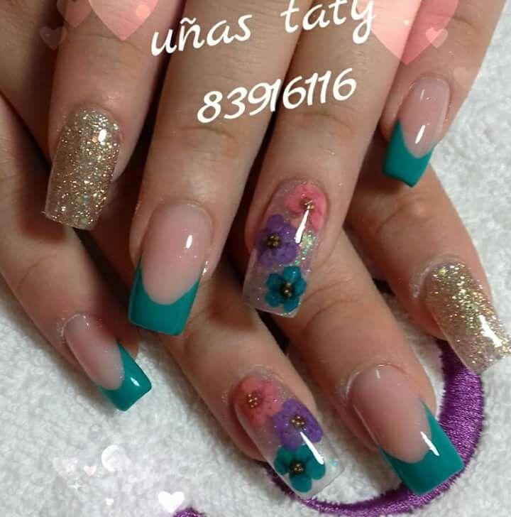 Pin de Karen Duran en Uñas | Pinterest | Diseños de uñas, Uñas ...