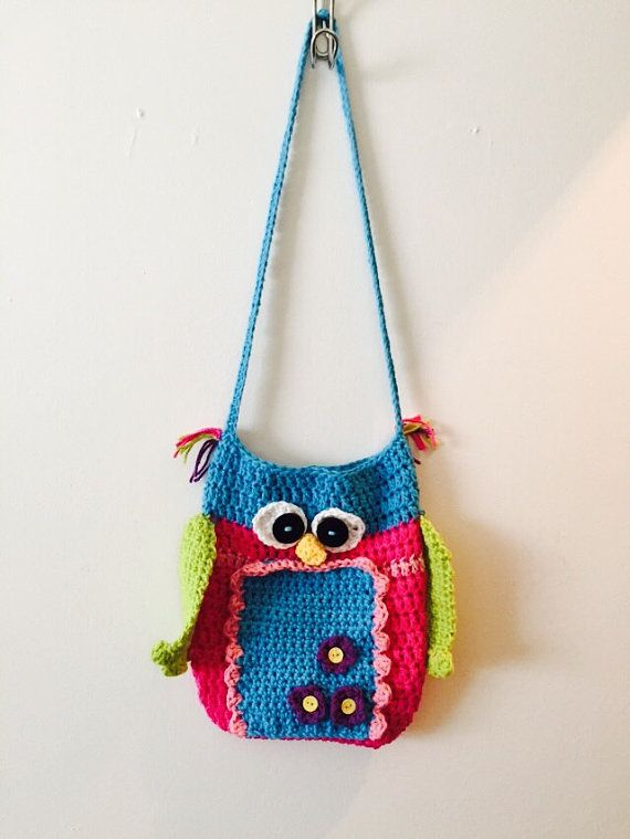 Owl Purse Crocheted Book Bag Lunch Bag by TheHookerandtheOwl | Etsy ...