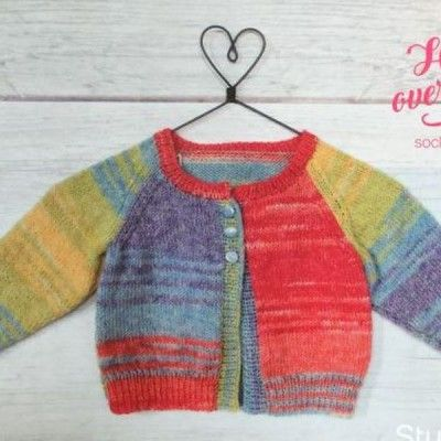 Easy Baby Cardigan Knitting Pattern Instant Download Baby Makes