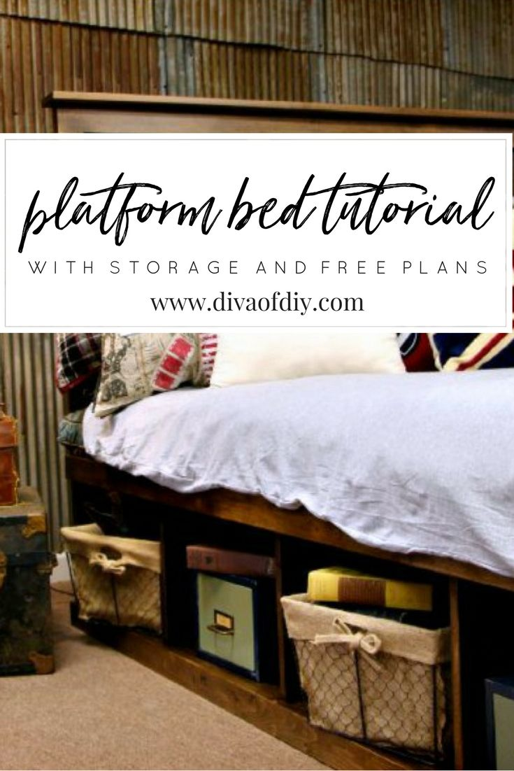 Platform Bed With Storage Tutorial Jodie House Platform Bed With