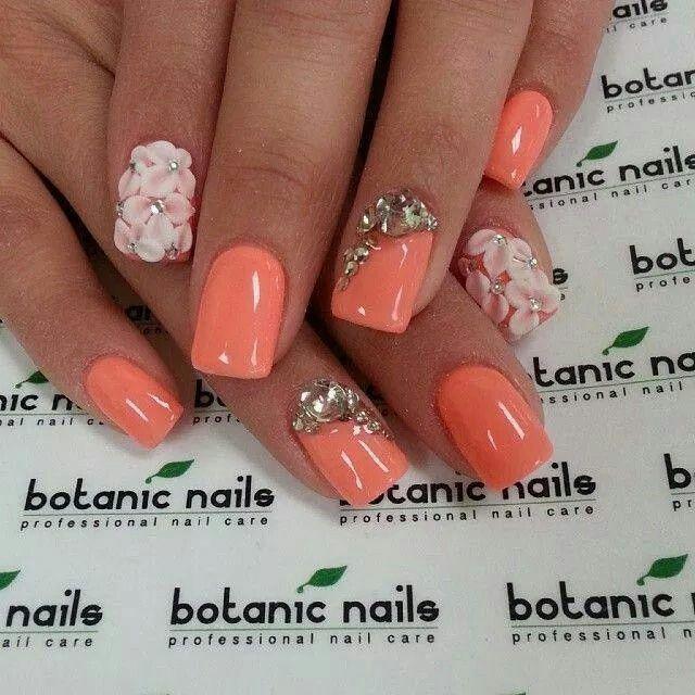 Incrustaciones y relieve | nails! | Pinterest | Uñas en acrilico ...