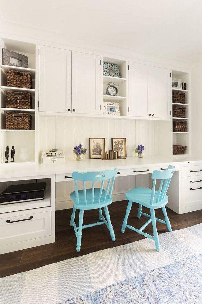 Kitchen Desk. Kitchen desk painted in Benjamin Moore ...