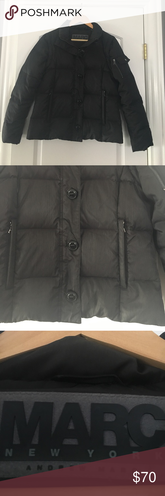 Marc By Andrew Marc Jacket/Vest Black puffer jacket