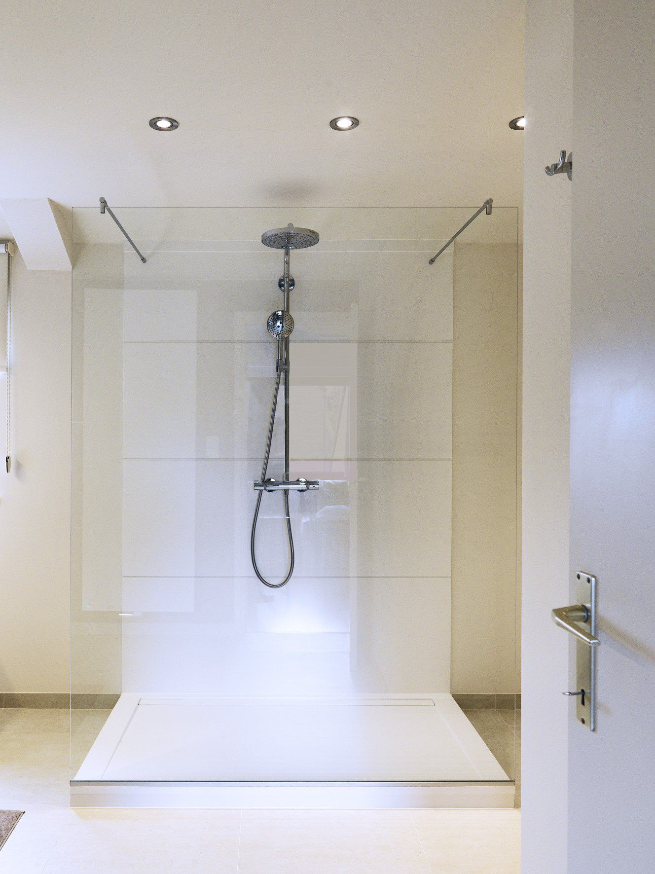 Walk In Shower By Dzignstone Solid Surface Wall Panels And Shower