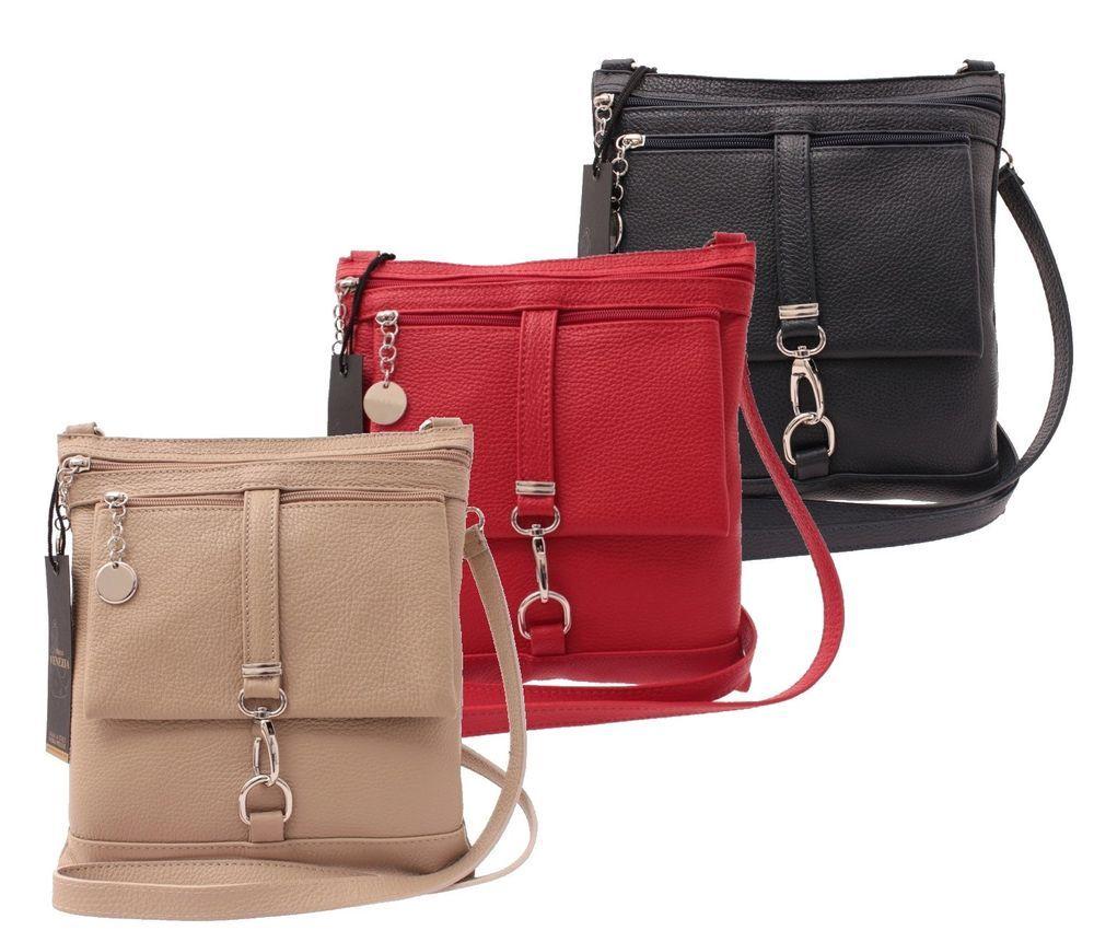3df642d1b22be Marco VENEZIA Damentasche Ledertasche Handtasche Umhängetasche Bag Street  City