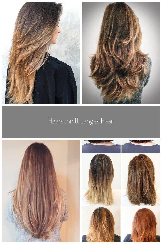 Haarschnitt langes Haar #stufenschnitt #stufen #glattehaare #ideen