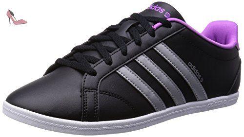 eb56f5af3d165 adidas Baskets Neo CONEO QT VS Chaussures Mode Baskets adidas Femme Noir  Violet 545cc8
