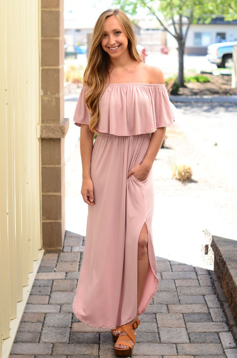 Wide Awake Maxi Dress- Blush | New Arrivals | Pinterest | Faldas ...