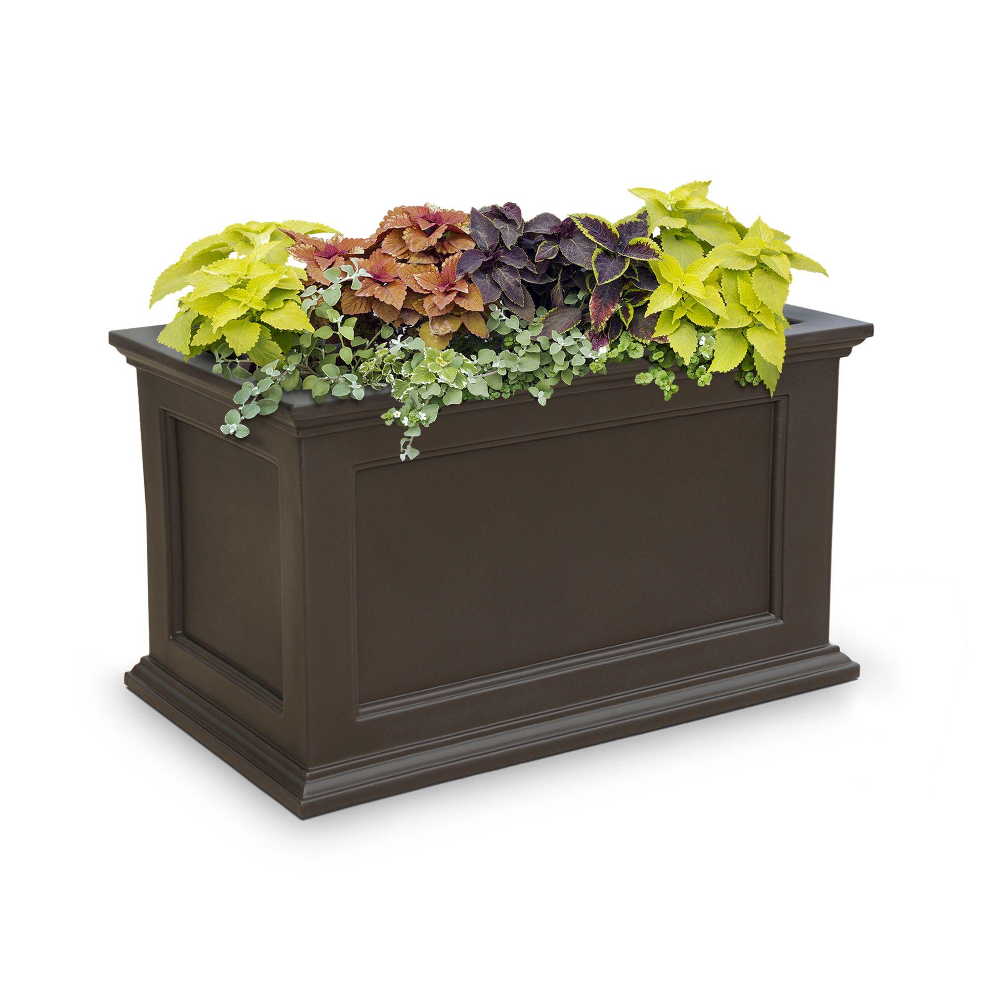 Fairfield patio planter 20 x 36 white