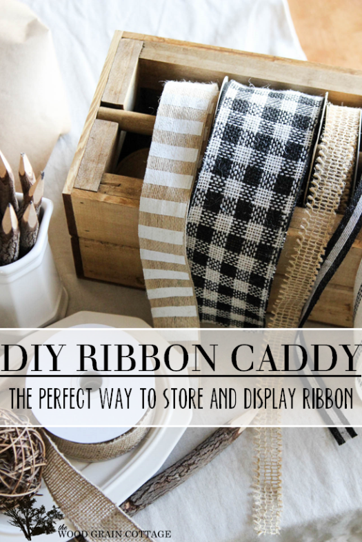 How to make a wood ribbon organizer