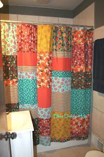 Diy Patchwork Shower Curtain For Master Bath To Tie Into Closet