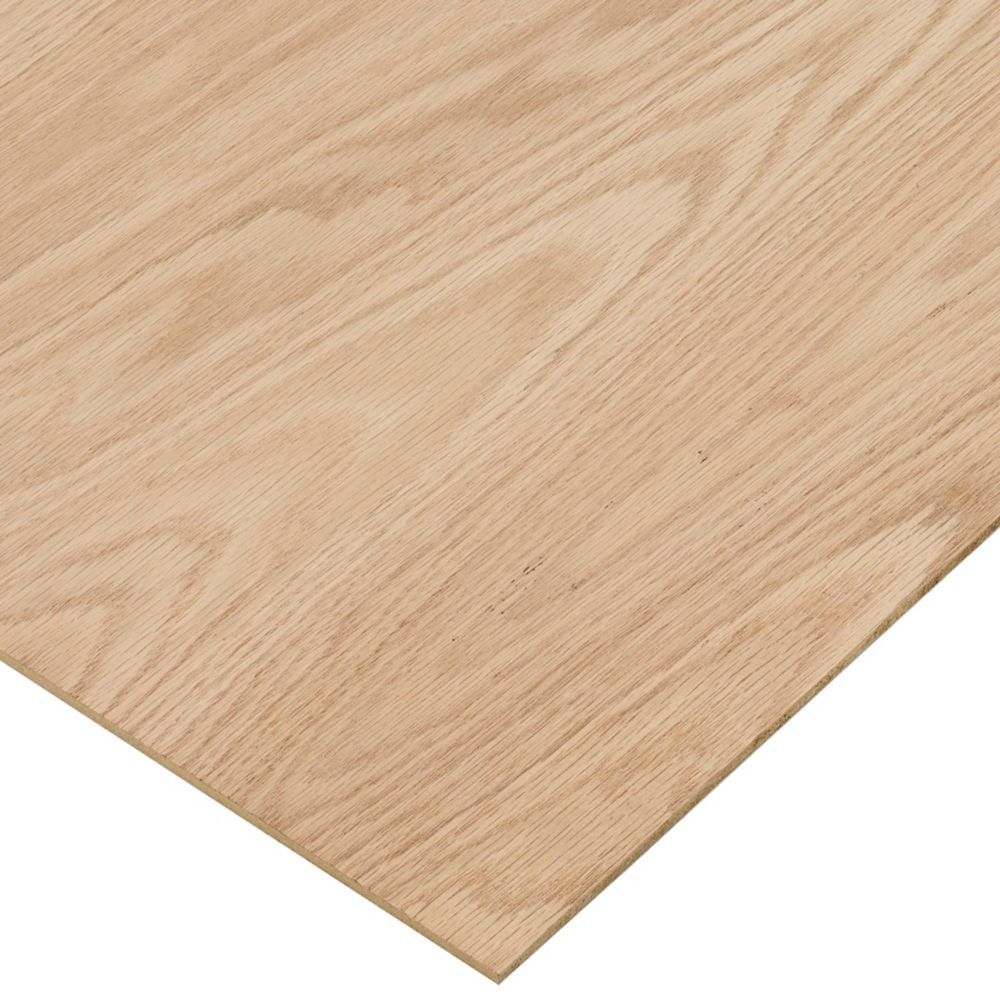 1 4in X 2ft X 4ft Red Oak Plywood In 2020 Oak Plywood Plywood Projects Red Oak