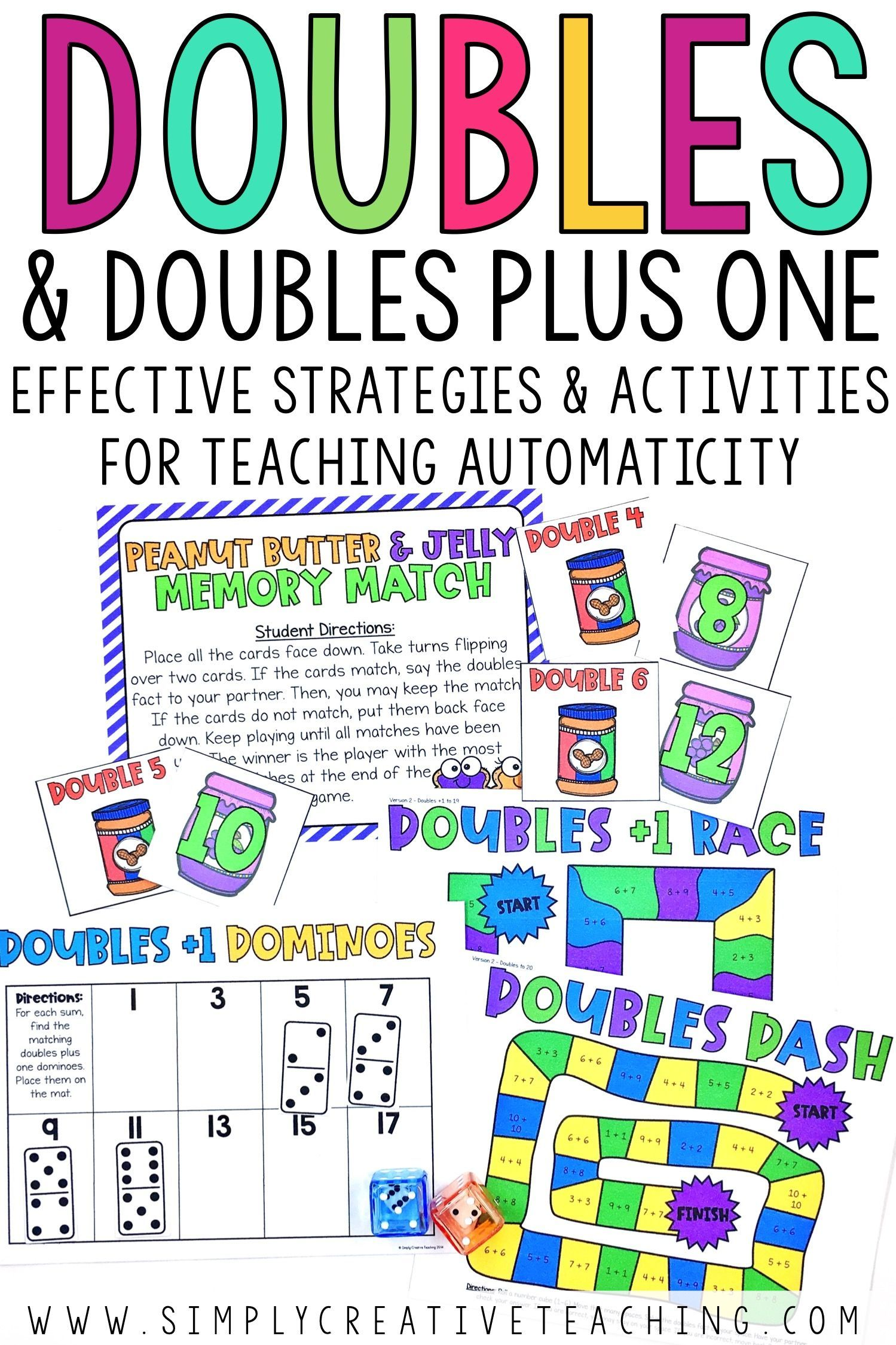 Doubles Facts And Doubles Plus One Games Amp Activities