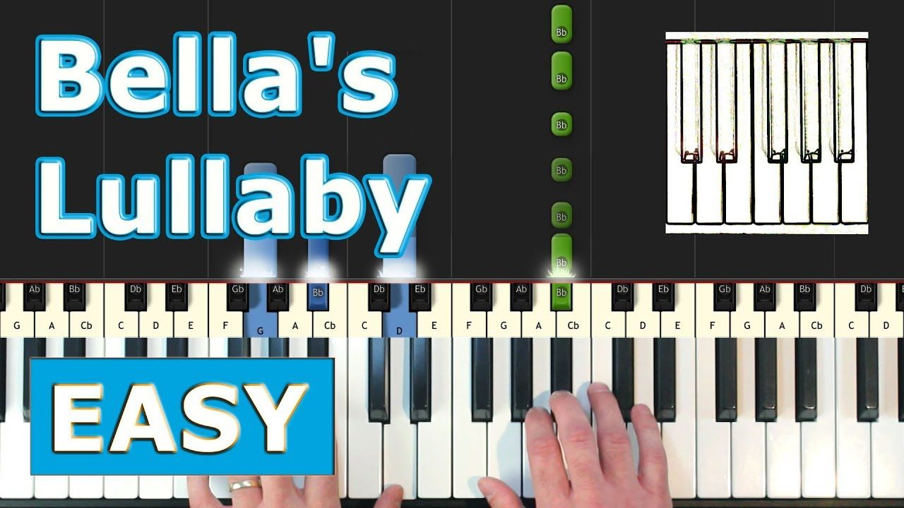 Bella S Lullaby Piano Tutorial Easy Twilight Sheet Music