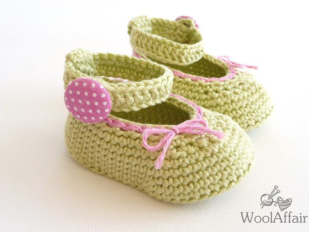 Babyschuhe häkeln Baby Ballerinas Häkelanleitung | Pinterest ...