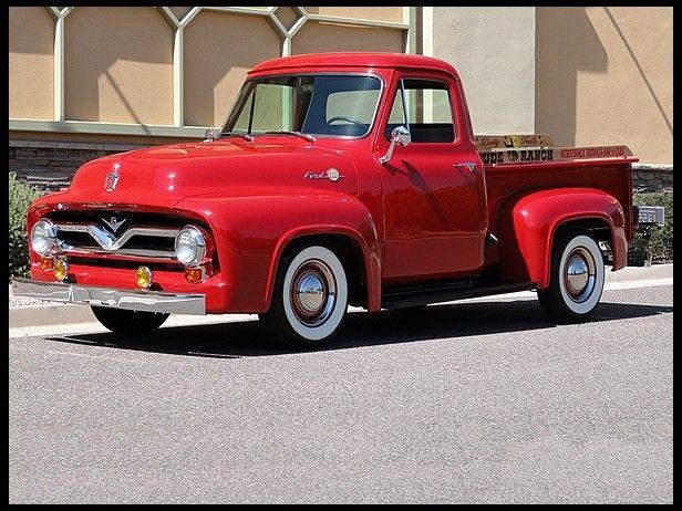 1955 Ford F100 Pickup Classic Pickup Trucks Ford Pickup Trucks