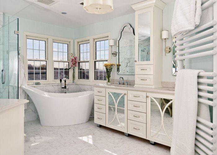 No Tub For The Master Bath Good Idea Or Regrettable Trend Small Master Bathroom Fixer Upper Bathroom Master Bath Design