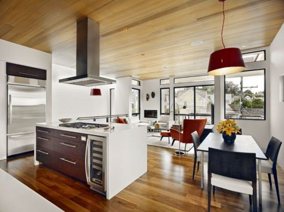 Decoracion #moderno #comedor #cocina #sala de estar #sillas ...