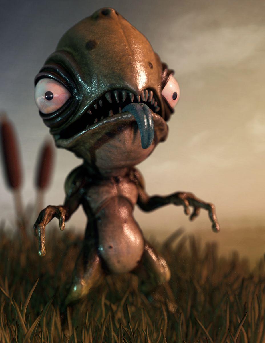 Swampler Blender Cookie 3d model character, Character