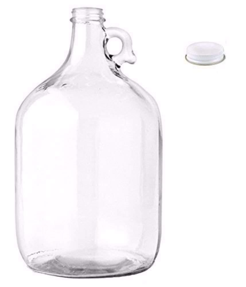 1 Gallon Glass Jug With Cap Lid One Vintage Jar Milk Water Wine Making Bottles Wine Making Bottles Glass Jug Glass Water Bottle