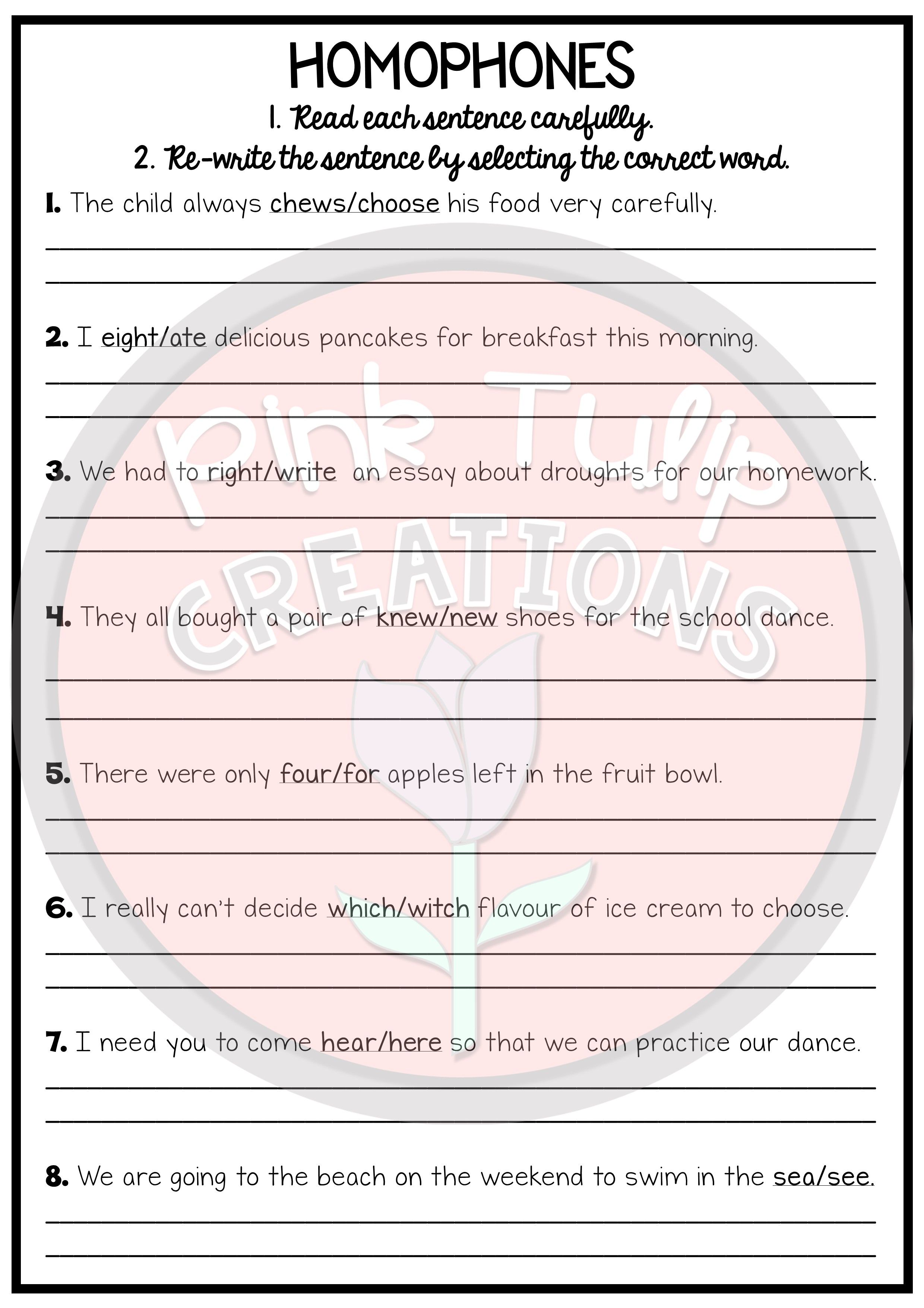 No Prep Early Finisher Worksheet Pack