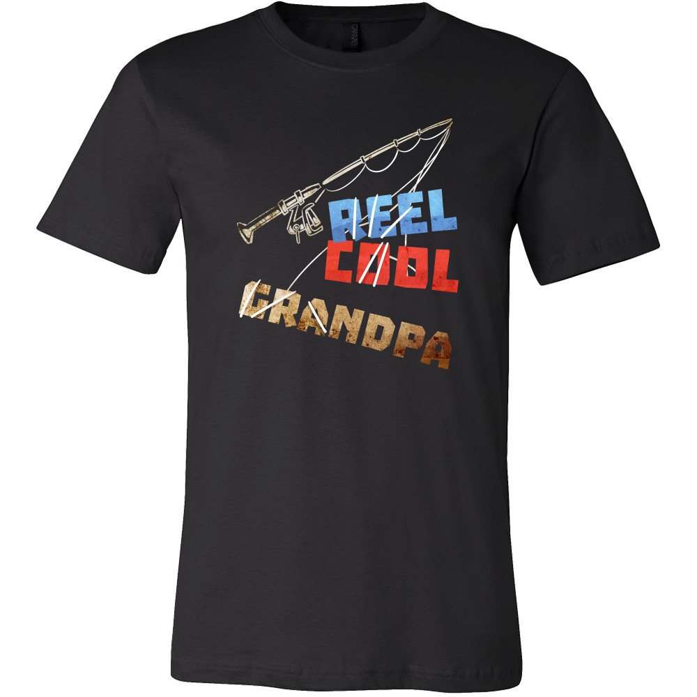 Reel Cool Grandpa Funny Fishing Buddy Premium T-shirt