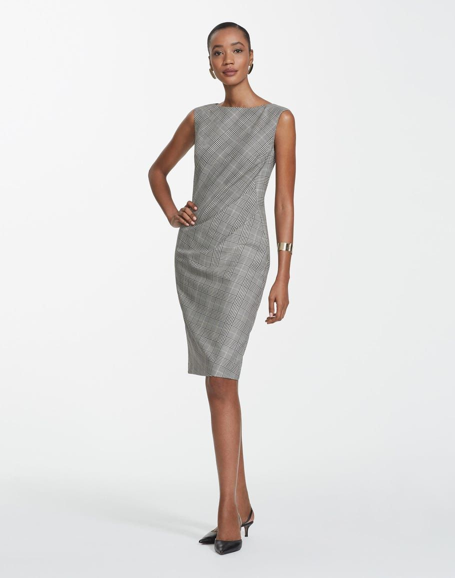 Plus-Size Houndstooth Plaid Della Dress 2