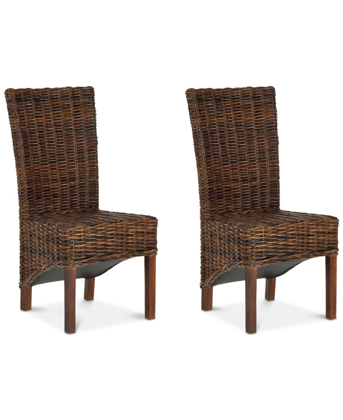 Furniture Lynmore Set Of 2 Wicker Dining Chairs Reviews Furniture Macy S Chairs Dining Furn Dining Chairs Outdoor Wicker Furniture Wicker Dining Chairs