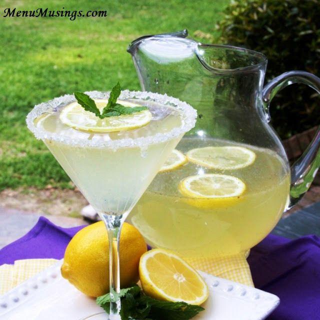 Menu Musings of a Modern American Mom: Honey Vanilla Bean Lemondrop Martini