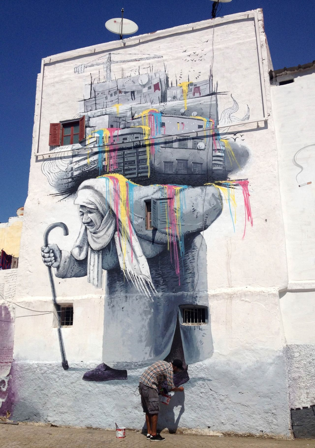 Mouhim Simo In Casablanca Morocco Street Art Hub Street Art  # Muebles Casablanca