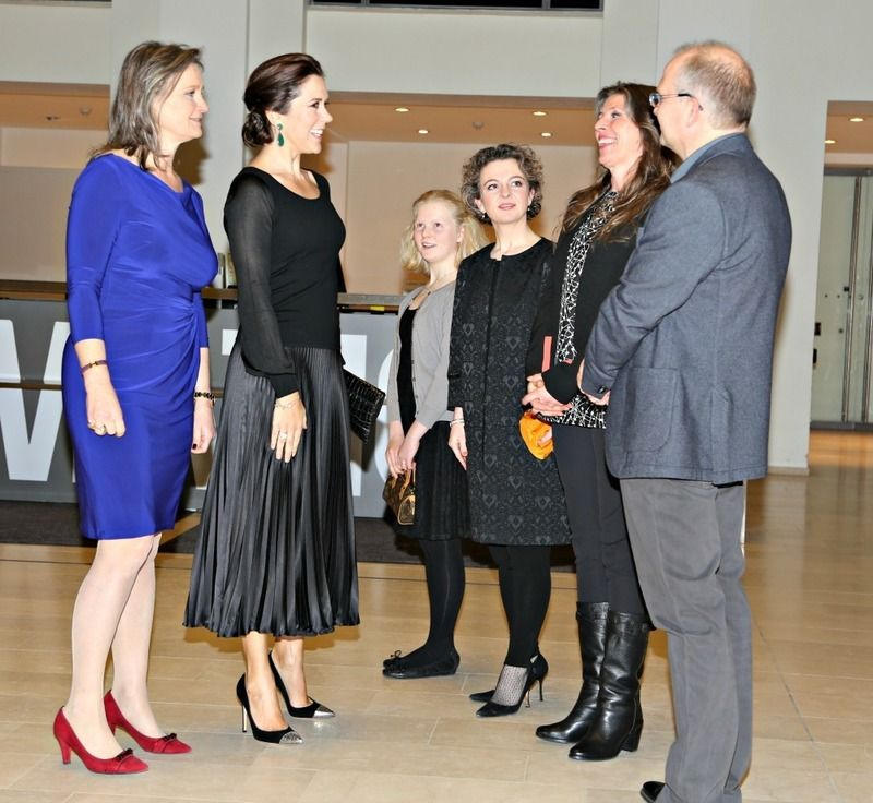 Princess last night at the premiere of the documentary is Asger Jorn, the Danish painter Who Would Have Been 100 years!